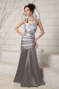 Grey Mermaid Straps Beading Ruches Cocktail Dress in Minnesota