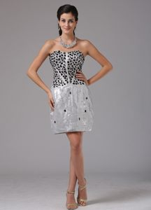 Beading Sliver Column Prom Cocktail Dress Mini-length in New York